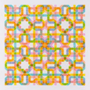 """""""Observation/Perambulation""""  -   4-color Lego Letterpress,"""