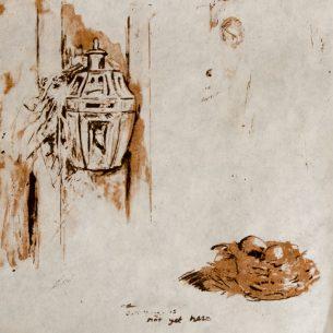 """Something is not yet here""   -  Photolithograph on Okawara,"
